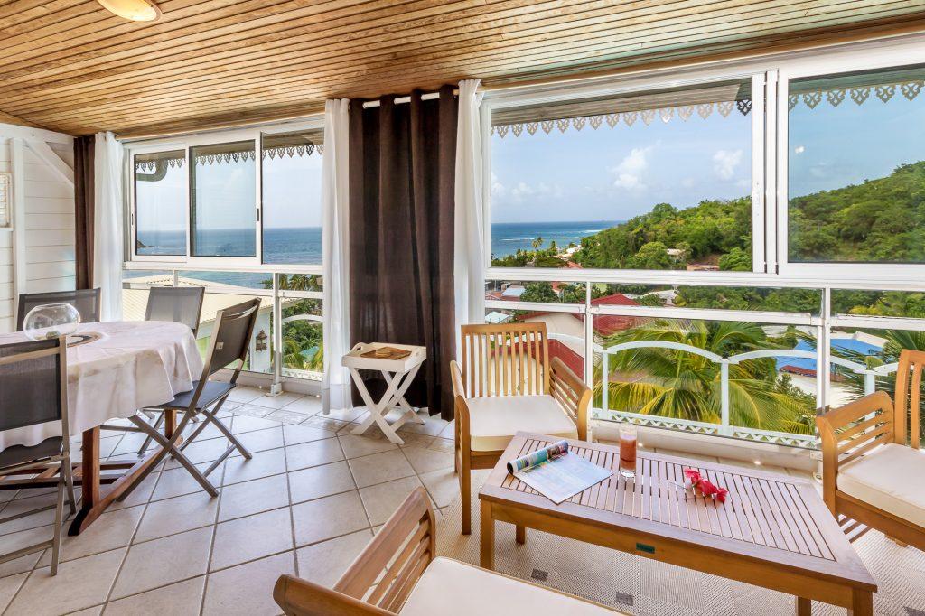 Terrasse villa Marine Martinique